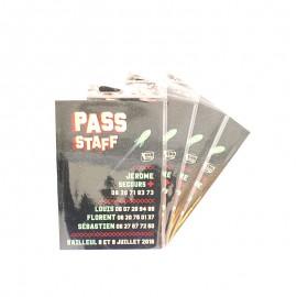 Pass imprimés et pochettes pass