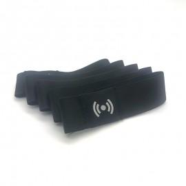Bracelets Tissu Stretch RFID Vierges Noir