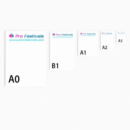 Affiches Grands et Petits Formats A3, A1, A2, A0