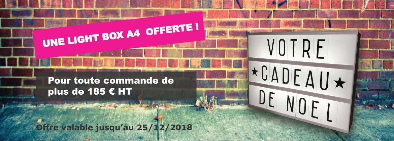 Offre de Noël - Light Box