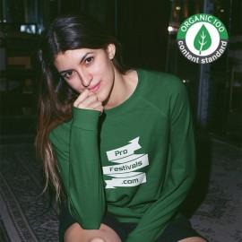 Sweat shirts Bio Organiques Personnalisés Sérigraphie 1 couleur