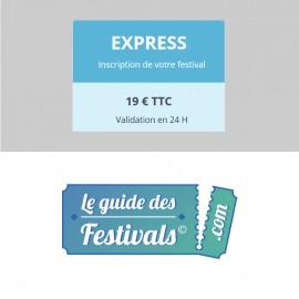 Inscription Express sur Leguidedesfestivals.com