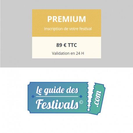 Inscription Premium sur Leguidedesfestivals.com