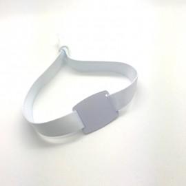 Bracelets Tissu RFID Vierges Blancs