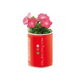 Pot de fleurs en conserve personnalisable