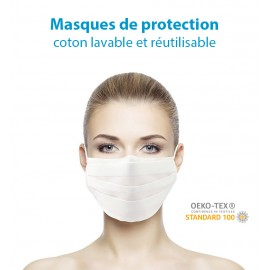 Masques de Protection Coton Vierges