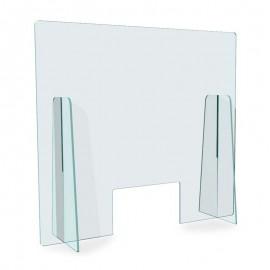 Vitre en plexiglass de protection pour comptoir