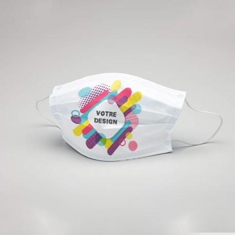 Masques de Protection Personnalisable Coton Vierges